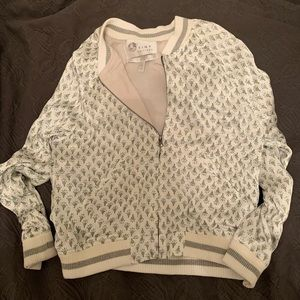 Anthropologie Embroidered Bomber